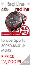 RED LINE(レッドライン)50050-BB-01-RDAS Torque Sport/トルクスポート クロノグラフ ラバーベルト ブラック×レッド メンズウォッチ 腕時計