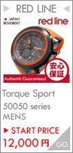 RED LINE(レッドライン) 50050-01 Torque Sport/トルクスポート クロノグラフ ラバーベルト ブラックダイアル メンズウォッチ 腕時計