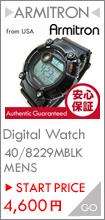 Armitron (アーミトロン) 40-8229MBLK デジタル ブラック ラバーベルト メンズウォッチ 腕時計